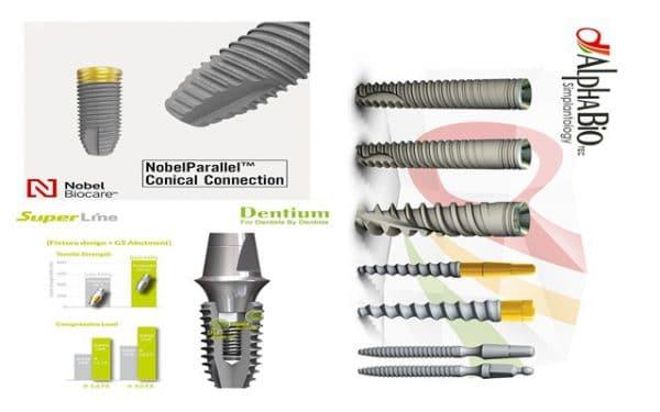 các hãng cung cấp trụ cấy ghép implant