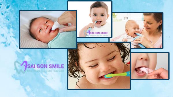 vệ sinh răng cho trẻ